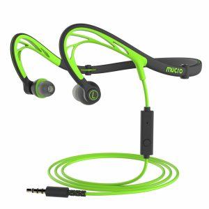 Mucro Foldable Green-Black Sports Headphones