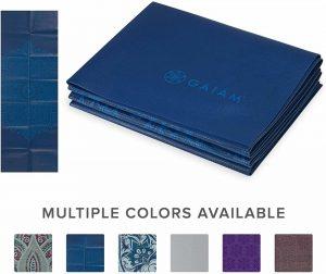 Gaiam Folding Travel Yoga Mat