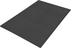An exercise mat for a home gym