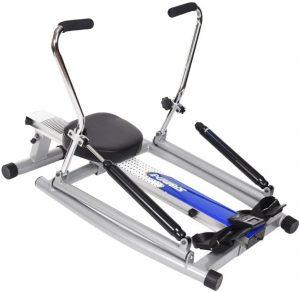 An orbital rowing machine